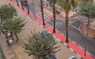 La lluvia caída en Sax vuelve a inundar las principales avenidas